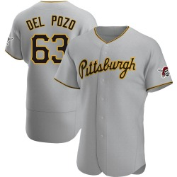Miguel Del Pozo Pittsburgh Pirates Men's Authentic Road Jersey - Gray
