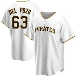 Miguel Del Pozo Pittsburgh Pirates Men's Replica Home Jersey - White