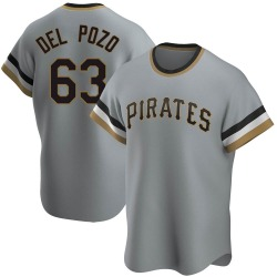 Miguel Del Pozo Pittsburgh Pirates Men's Replica Road Cooperstown Collection Jersey - Gray