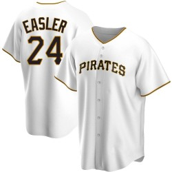 Mike Easler Pittsburgh Pirates Men's Replica Home Jersey - White