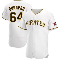 Montana DuRapau Pittsburgh Pirates Men's Authentic Home Jersey - White