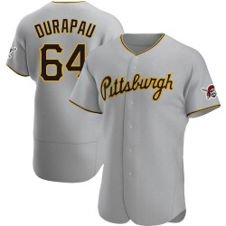 Montana DuRapau Pittsburgh Pirates Men's Authentic Road Jersey - Gray