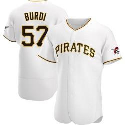 Nick Burdi Pittsburgh Pirates Men's Authentic Home Jersey - White
