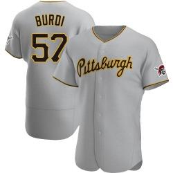 Nick Burdi Pittsburgh Pirates Men's Authentic Road Jersey - Gray