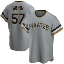 Nick Burdi Pittsburgh Pirates Youth Replica Road Cooperstown Collection Jersey - Gray