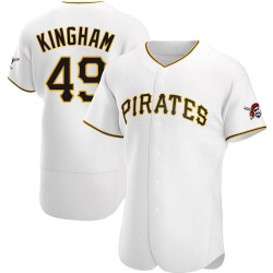 Nick Kingham Pittsburgh Pirates Men's Authentic Home Jersey - White