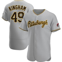 Nick Kingham Pittsburgh Pirates Men's Authentic Road Jersey - Gray