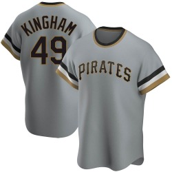 Nick Kingham Pittsburgh Pirates Men's Replica Road Cooperstown Collection Jersey - Gray