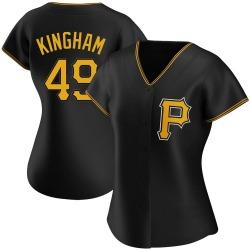 Nick Kingham Pittsburgh Pirates Women's Authentic Alternate Jersey - Black