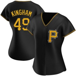 Nick Kingham Pittsburgh Pirates Women's Replica Alternate Jersey - Black