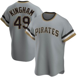 Nick Kingham Pittsburgh Pirates Youth Replica Road Cooperstown Collection Jersey - Gray