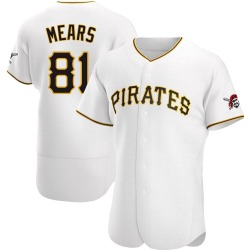 Nick Mears Pittsburgh Pirates Men's Authentic Home Jersey - White