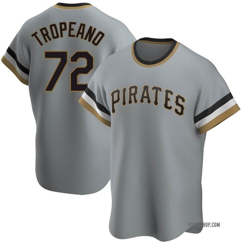 Nick Tropeano Pittsburgh Pirates Men's Replica Road Cooperstown Collection Jersey - Gray