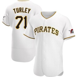 Nik Turley Pittsburgh Pirates Men's Authentic Home Jersey - White