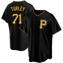 Nik Turley Pittsburgh Pirates Men's Replica Alternate Jersey - Black
