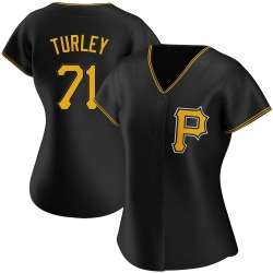 Nik Turley Pittsburgh Pirates Women's Replica Alternate Jersey - Black