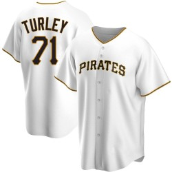 Nik Turley Pittsburgh Pirates Youth Replica Home Jersey - White