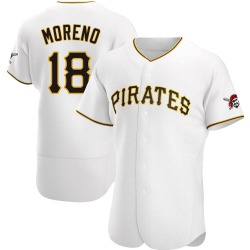 Omar Moreno Pittsburgh Pirates Men's Authentic Home Jersey - White