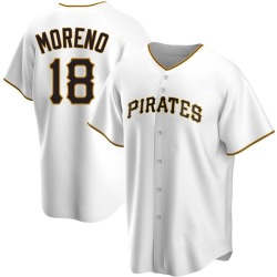 Omar Moreno Pittsburgh Pirates Youth Replica Home Jersey - White