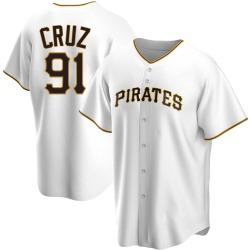 Oneil Cruz Pittsburgh Pirates Men's Replica Home Jersey - White