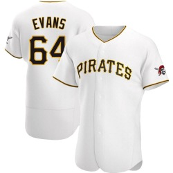 Phillip Evans Pittsburgh Pirates Men's Authentic Home Jersey - White