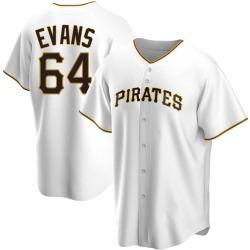 Phillip Evans Pittsburgh Pirates Men's Replica Home Jersey - White