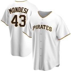 Raul Mondesi Pittsburgh Pirates Men's Replica Home Jersey - White
