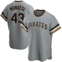 Raul Mondesi Pittsburgh Pirates Men's Replica Road Cooperstown Collection Jersey - Gray