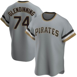 Robbie Glendinning Pittsburgh Pirates Men's Replica Road Cooperstown Collection Jersey - Gray