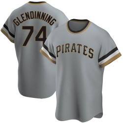 Robbie Glendinning Pittsburgh Pirates Youth Replica Road Cooperstown Collection Jersey - Gray
