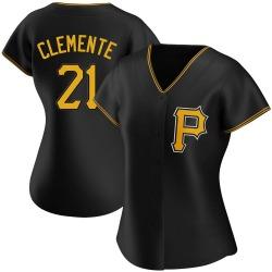 Roberto Clemente Pittsburgh Pirates Women's Authentic Alternate Jersey - Black