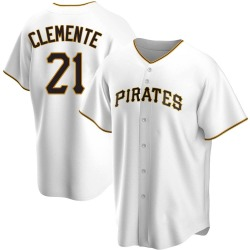 Roberto Clemente Pittsburgh Pirates Youth Replica Home Jersey - White