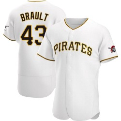 Steven Brault Pittsburgh Pirates Men's Authentic Home Jersey - White