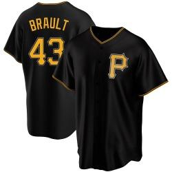 Steven Brault Pittsburgh Pirates Men's Replica Alternate Jersey - Black