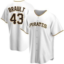 Steven Brault Pittsburgh Pirates Youth Replica Home Jersey - White