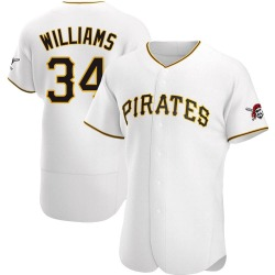 Trevor Williams Pittsburgh Pirates Men's Authentic Home Jersey - White