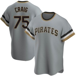 Will Craig Pittsburgh Pirates Men's Replica Road Cooperstown Collection Jersey - Gray