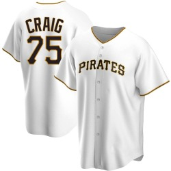 Will Craig Pittsburgh Pirates Youth Replica Home Jersey - White