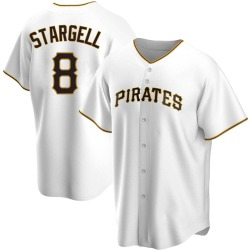 Willie Stargell Pittsburgh Pirates Men's Replica Home Jersey - White