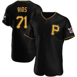 Yacksel Rios Pittsburgh Pirates Men's Authentic Alternate Jersey - Black