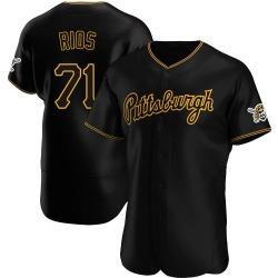 Yacksel Rios Pittsburgh Pirates Men's Authentic Alternate Team Jersey - Black