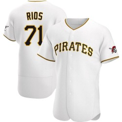 Yacksel Rios Pittsburgh Pirates Men's Authentic Home Jersey - White