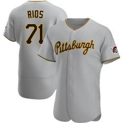 Yacksel Rios Pittsburgh Pirates Men's Authentic Road Jersey - Gray