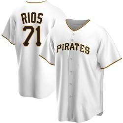 Yacksel Rios Pittsburgh Pirates Men's Replica Home Jersey - White