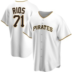 Yacksel Rios Pittsburgh Pirates Youth Replica Home Jersey - White